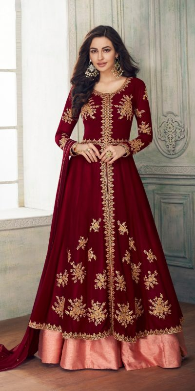 ravishing-maroon-color-faux-georgette-with-embroidery-work-anarkali-suit