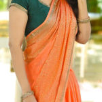well-formed-orange-color-zoya-silk-with-heavy-pearl-work-saree