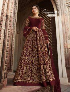 brown-color-heavy-net-cordingstone-work-wedding-anarkali-suit