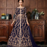 energetic-blue-color-vaishnavi-net-with-coding-embroidery-work-anarkali-suit
