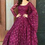 hypnotic-purple-color-heavy-net-diamond-work-party-wear-gown