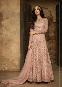peach-color-heavy-net-rangoli-sartin-with-sequence-work-anarkali-suit