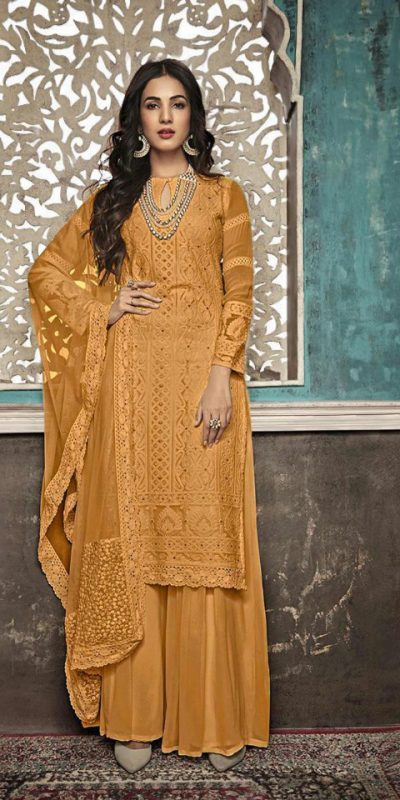 alluring-yellow-color-heavy-fox-georgette-with-embroidery-work-stone-suit