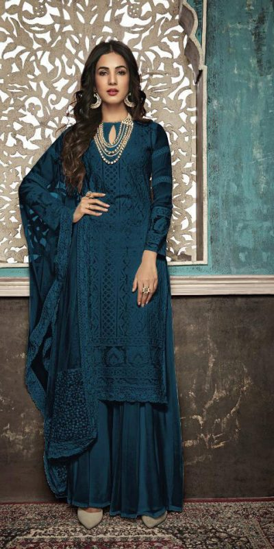 alluring-peacock-blue-color-heavy-fox-georgette-with-embroidery-work-stone-suit