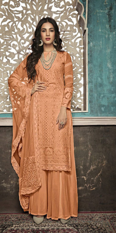 alluring-orange-color-heavy-fox-georgette-with-embroidery-work-stone-suit