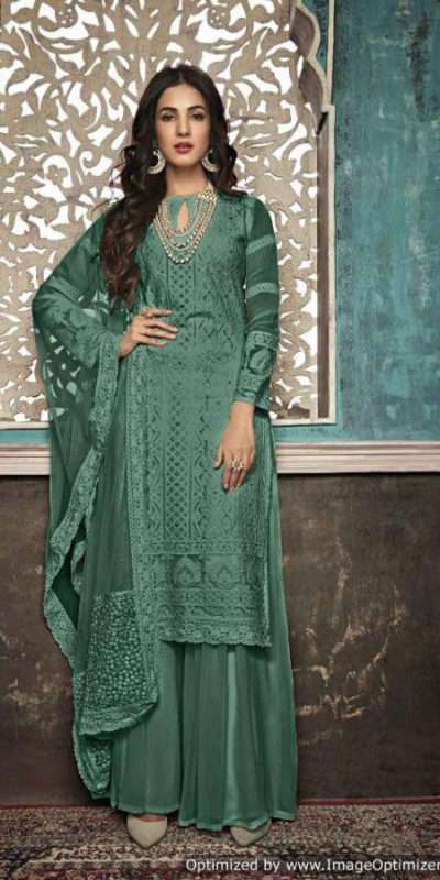 alluring-sea-green-color-heavy-fox-georgette-with-embroidery-work-stone-suit
