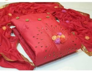 captivating-red-color-glace-cotton-with-hand-work-salwar-suit