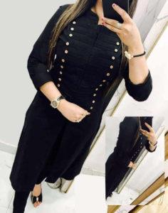 casual-wear-beautiful-black-color-high-slub-cotton-selfi-kurti