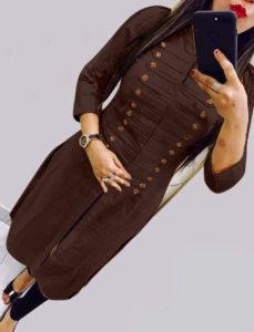 casual-wear-beautiful-brown-color-high-slub-cotton-selfi-kurti