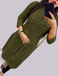 casual-wear-beautiful-mehendi-color-high-slub-cotton-selfi-kurti