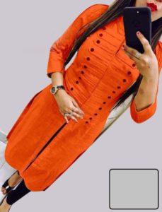 casual-wear-beautiful-orange-color-high-slub-cotton-selfi-kurti