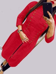 casual-wear-beautiful-red-color-high-slub-cotton-selfi-kurti