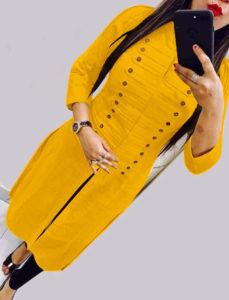 casual-wear-beautiful-yellow-color-high-slub-cotton-selfi-kurti