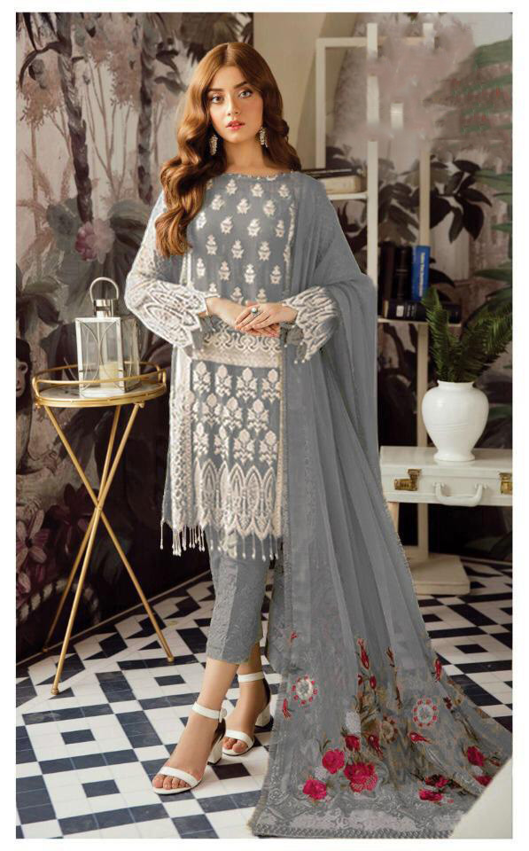 harmonious-grey-color-heavy-georgette-with-embroidery-work-sequence-suit