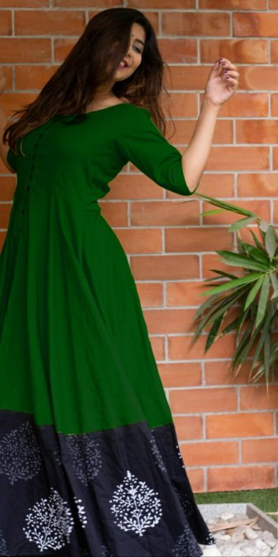 miraculous-green-color-heavy-rayon-party-wear-long-flair-gown