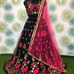 vibrant-block-color-heavy-net-exclusive-wedding-wear-lehenga-choli