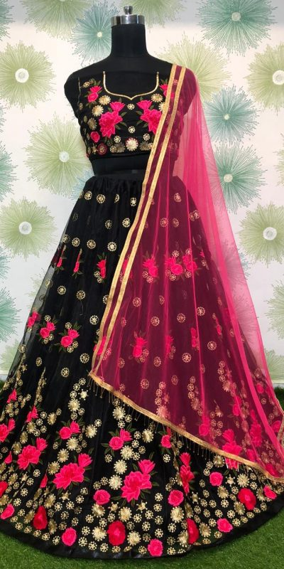 vibrant-block-color-heavy-net-exclusive-wedding-wear-lehenga-choli