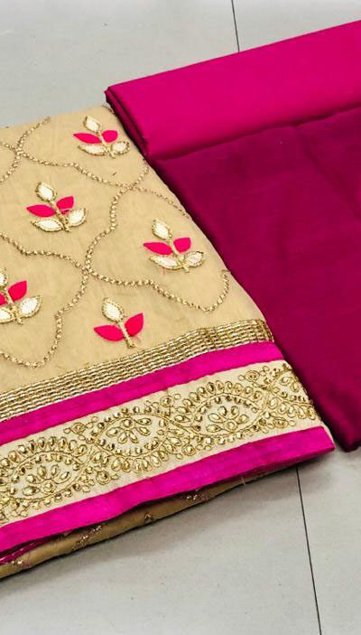 cream-color-pure-modal-silk-salwar-suit-with-finishing-gota-patti-work