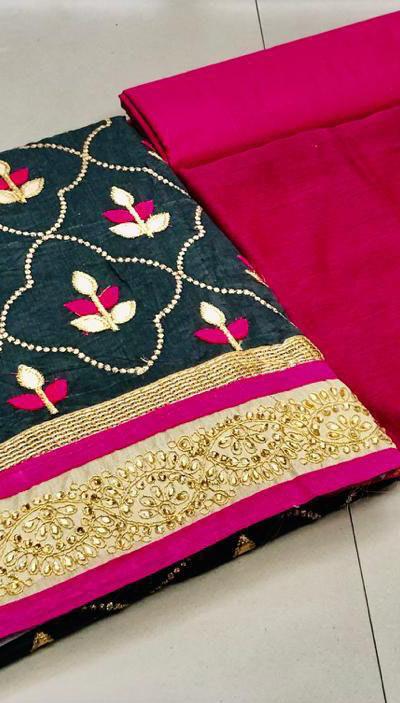 grey-color-pure-modal-silk-salwar-suit-with-finishing-gota-patti-work