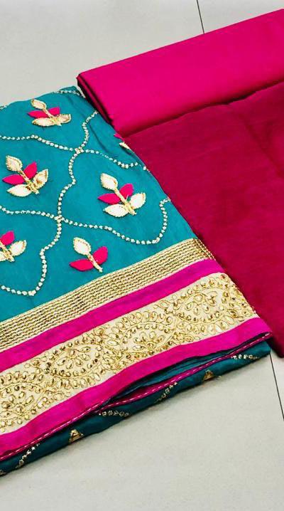 sky-blue-color-pure-modal-silk-salwar-suit-with-finishing-gota-patti-work