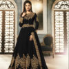 special-black-color-pure-georgette-with-cording-stone-work-anarkali-suit