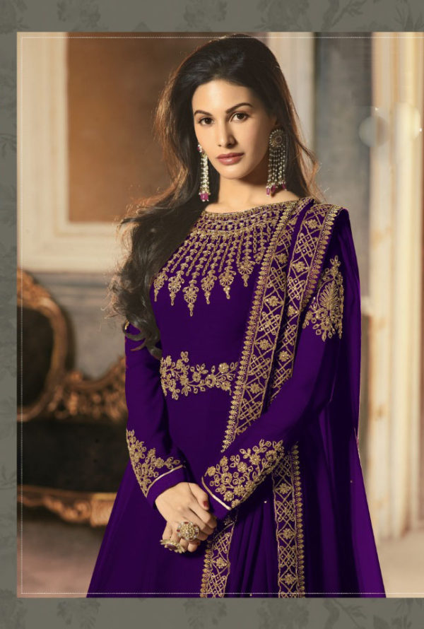 special-violet-color-pure-georgette-with-cording-stone-work-anarkali-suit