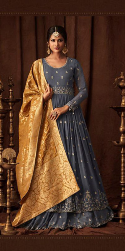 aesthetic-grey-color-party-wear-georgette-with-embroidered-anarkali-suit