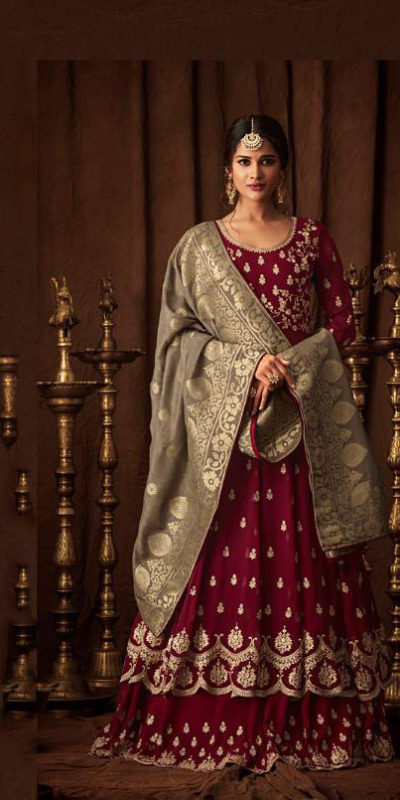 aesthetic-red-color-party-wear-georgette-with-embroidered-anarkali-suit