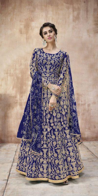 attractive-blue-color-heavy-cording-stone-work-wedding-anarkali-suit