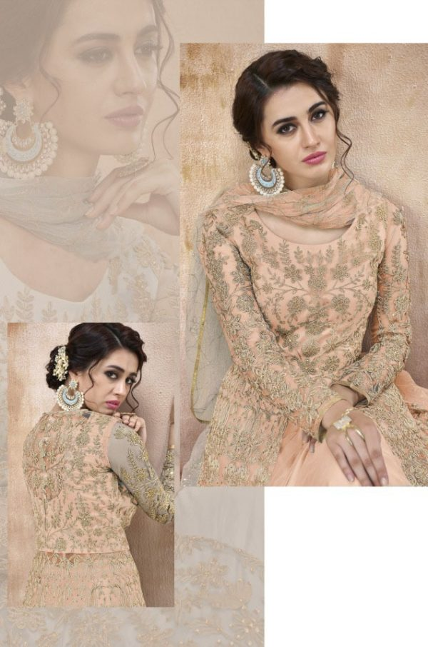 attractive-cream-color-heavy-cording-stone-work-wedding-anarkali-suit