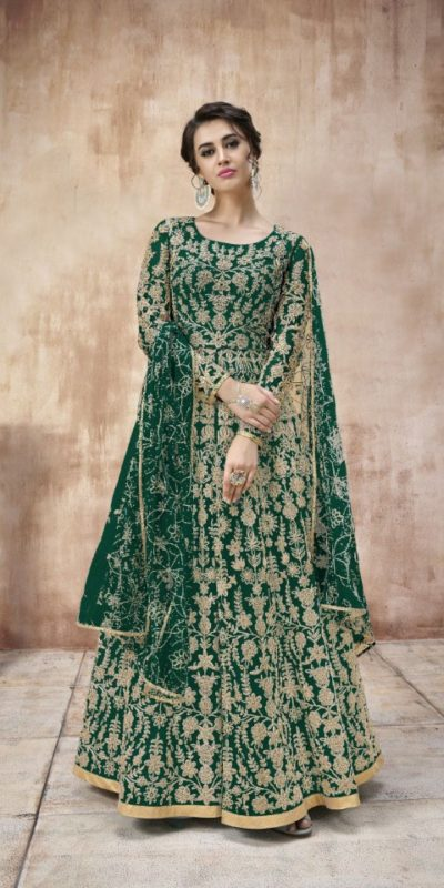 attractive-green-color-heavy-cording-stone-work-wedding-anarkali-suit