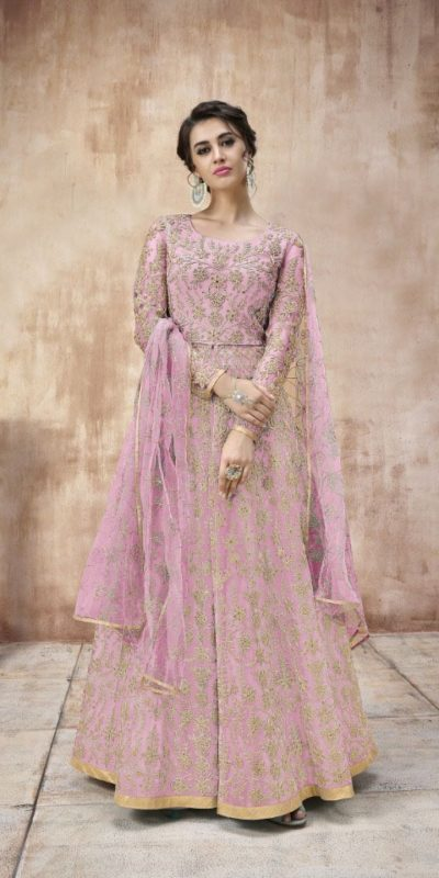 attractive-pink-color-heavy-cording-stone-work-wedding-anarkali-suit