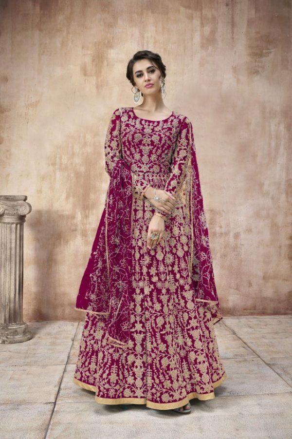 attractive-purple-color-heavy-cording-stone-work-wedding-anarkali-suit