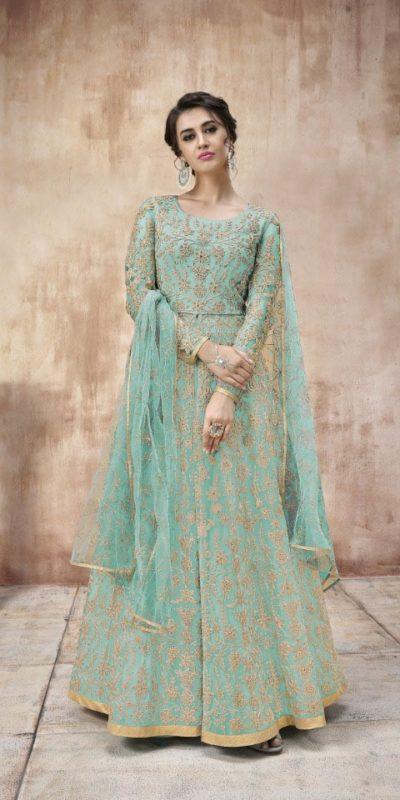 attractive-sea-green-color-heavy-cording-stone-work-wedding-anarkali-suit (2)