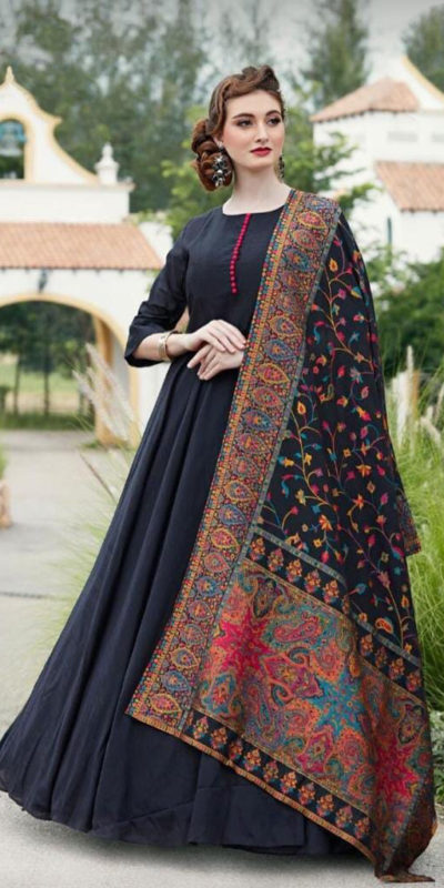 divine-black-color-digital-printed-dupatta-with-heavy-rayon-fabric-gown