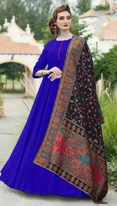 divine-royal-blue-color-digital-printed-dupatta-with-heavy-rayon-fabric-gown