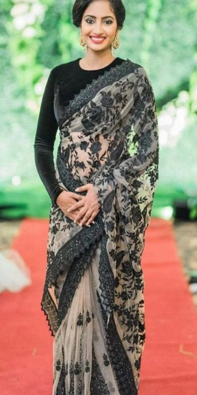 elegant-black-color-naylon-mono-net-fancy-rich-sequence-work-saree