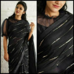 elegant-party-wear-black-color-pure-georgette-sequence-work-fancy-saree
