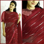 elegant-party-wear-maroon-color-pure-georgette-sequence-work-fancy-saree