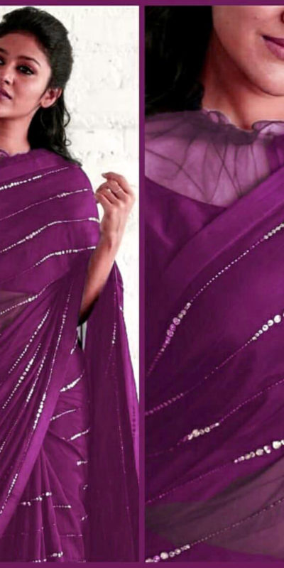 elegant-party-wear-wine-color-pure-georgette-sequence-work-fancy-saree
