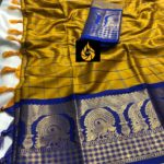 enchanting-yellow-color-pure-mercerised-cotton-silk-traditional-wear-classic-saree