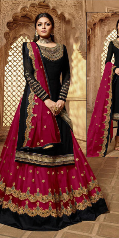 feminine-maroon-color-heavy-satin-georgette-with-embroidery-work-salwar-suit