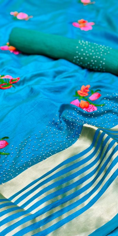 harmonious-blue-color-sana-silk-festival-wear-traditional-saree