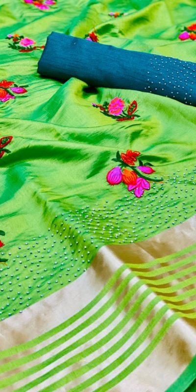 harmonious-green-color-sana-silk-festival-wear-traditional-saree