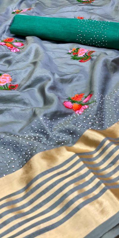 harmonious-grey-color-sana-silk-festival-wear-traditional-saree