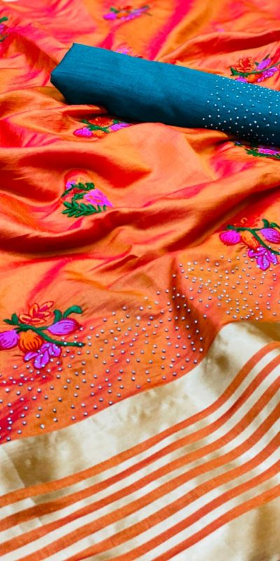 harmonious-orange-color-sana-silk-festival-wear-traditional-saree