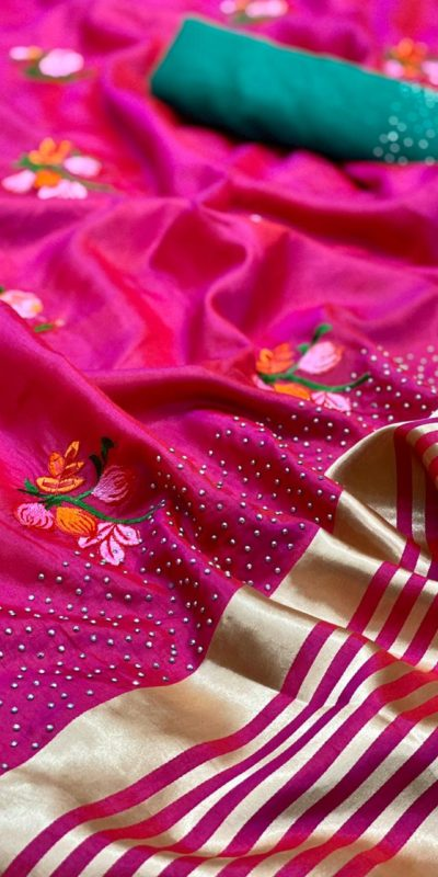 harmonious-pink-color-sana-silk-festival-wear-traditional-saree