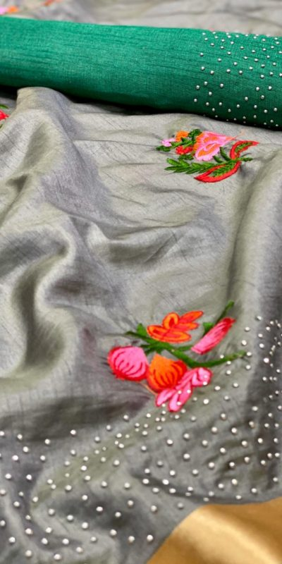harmonious-stone-green-color-sana-silk-festival-wear-traditional-saree