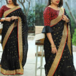 impeccable-heavy-cotton-with-heavy-jacquard-butti-gorgeous-looking-saree