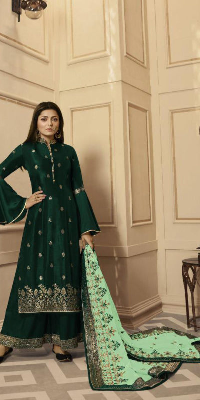 inspiring-green-color-rangoli-satin-with-embroidery-stone-work-plazo-suit